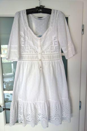 piekna sukienka Oasis z haftem , idealna na ciazowy brzyszek