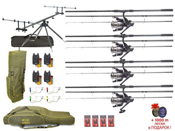 Набор для ловли карпа. Готовый карповый комплект рыболовных снастей