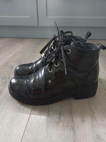 Зимние ботинки для девочки, кожа, 34 размер