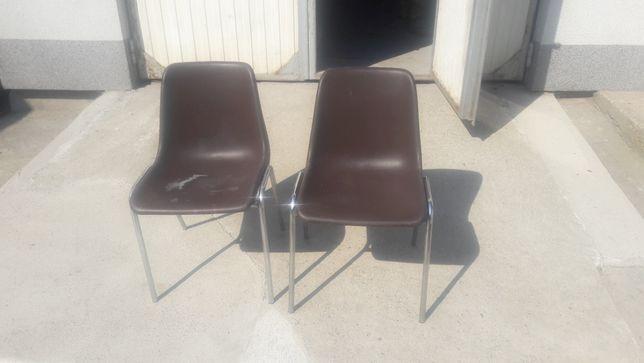 Krzesła brązowe 2 sztuki