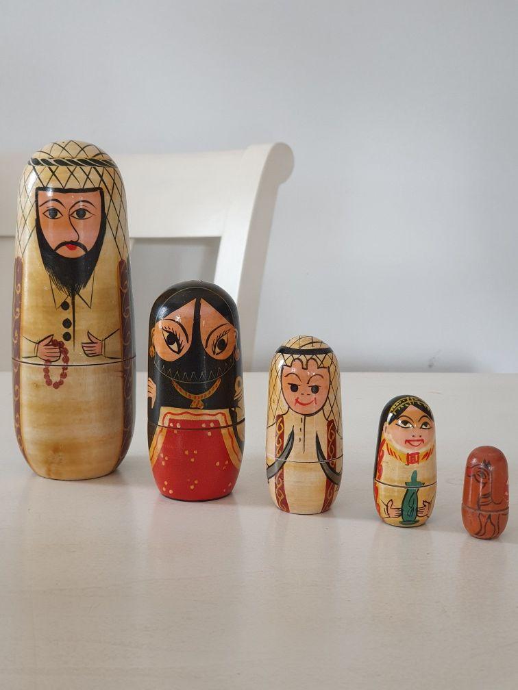 Boneco russo Matryoska 5 peças de madeira