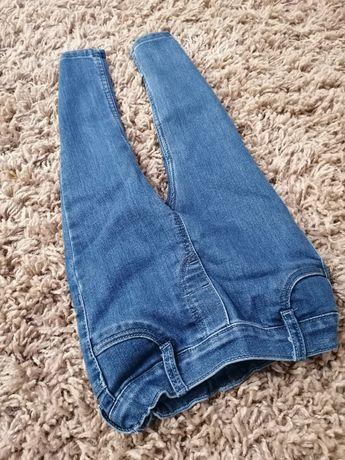 Nowe spodnie, tregginsy, legginsy jeansowe, rozm 92, hm