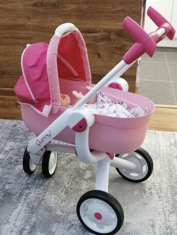 Śliczny wózek dla lalek smoby Quinny mega 3 w 1