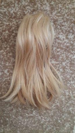 волосы искусственные хвост соломенный бежевый шиньон