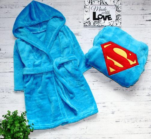 Теплый пушистый халатик халат на мальчика 1-2 года