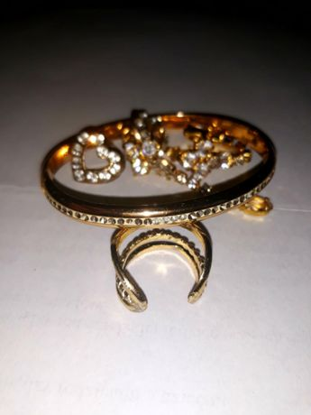 Biżuteria sztuczne złoto komplet