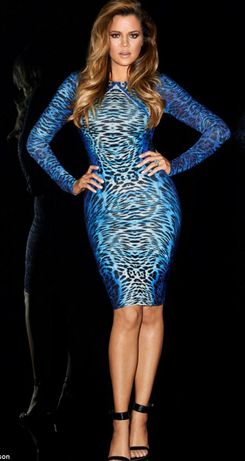 Suknia, sukienka - Kardashian Kollection Lipsy - Animal Bodycon - S