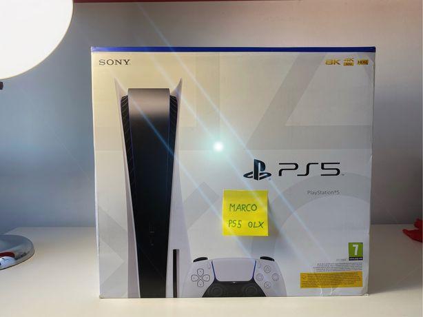Consola PlayStation 5, PS5 Standard Com CD, Nova e Selada