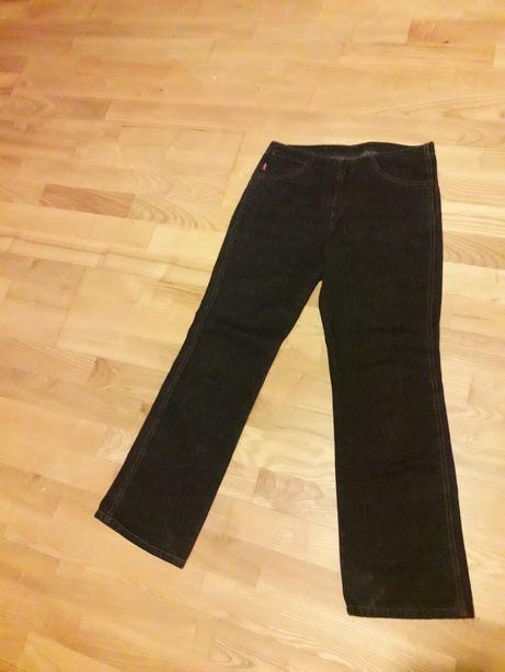 Spodnie dżinsy jeansy czarne Levis Levi's biodrówki