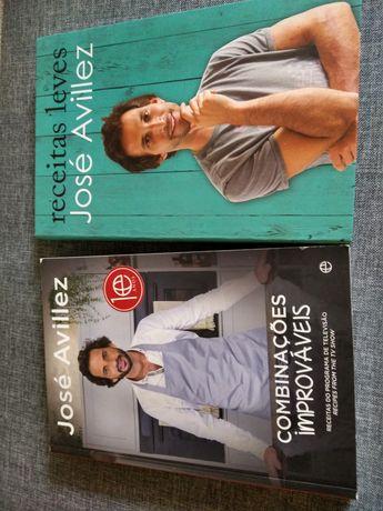 Conjunto 2 livros de cozinha do chef Avillez