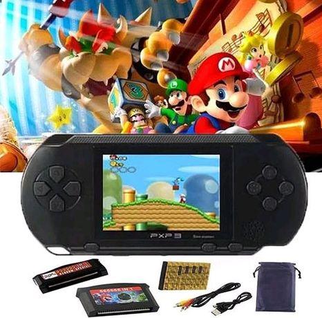 Consola infantil Videojogos (com150 jogos) incluí bateria recarregável
