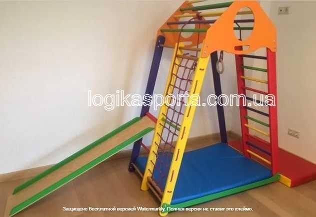 Детский спортивный комплекс в квартиру. Уголок. Горка. Качели