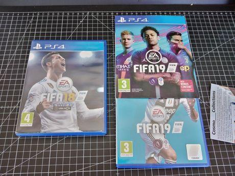 Jogos PS4 Fifa 18 e 19 impecáveis
