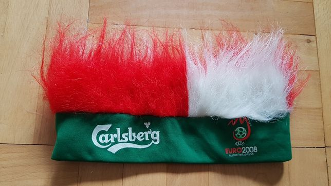 Opaska Carlsberg Euro 2008 gadżet do kibicowania nausznik