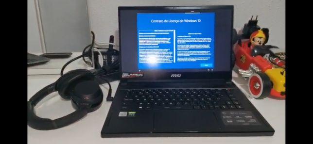 Portátil gaming msi gs66 stealth 10sfs-218pt I9-9980HK até 5.30 GHz