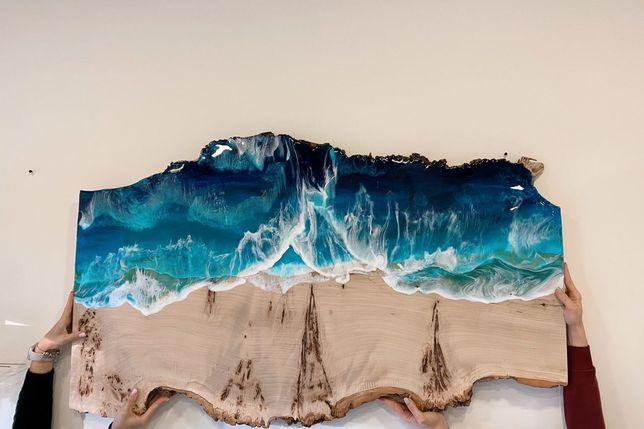 Картина «Море» эпоксидной смолой
