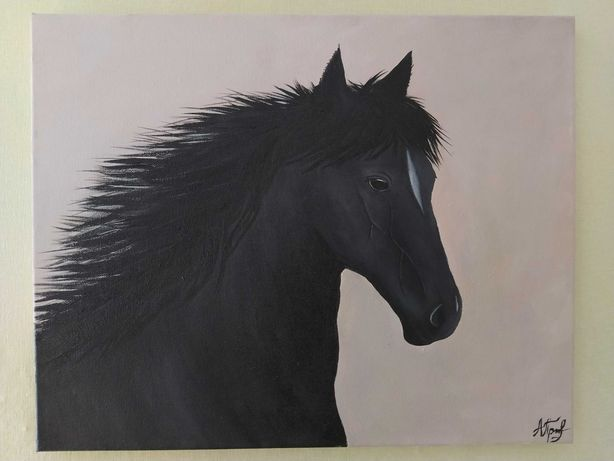 """Картина акрилом """"Лошадь"""""""