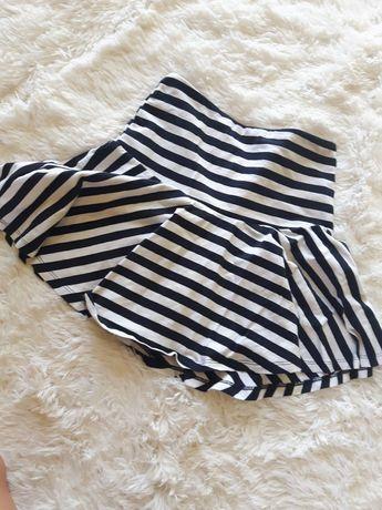 Spódniczka biało-czarna w paski