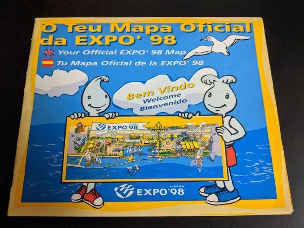 O teu mapa oficial Expo 98
