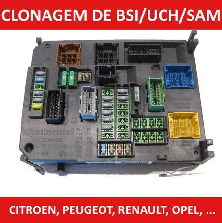 Clonagem e reparação de BSI, UCH, SAM, CEM