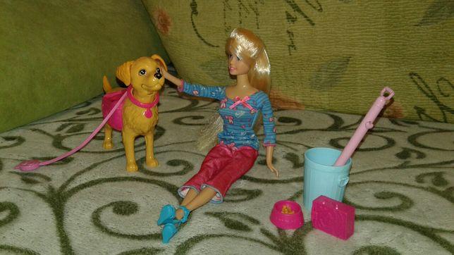 Барби с питомцем собачкой Таффи