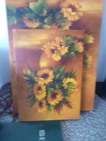 Quadros de flores em tela