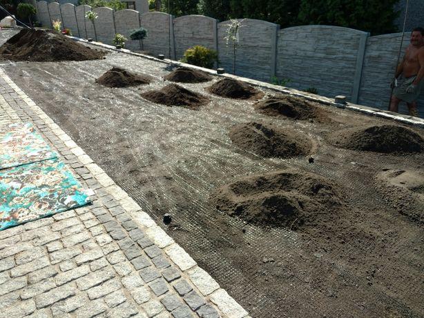 Ziemia humus przesiewany torf kompost gleba kora kostka granitowa żwir