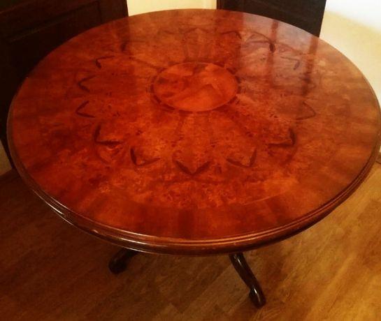 Piękny stół drewniany Biedermeier (bez krzeseł)