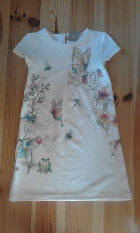 Next śliczna tłoczona sukienka_140