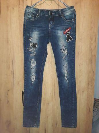 Джинси 2в1, Рваные джинсы 164