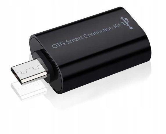 Adapter PRZEJŚCIÓWKA Micro USB MicroUSB OTG czarny Przesyłanie danych