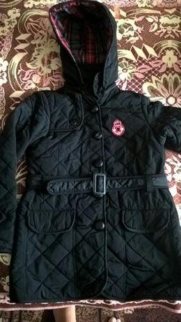 Куртка - пальто стеганка демисезонная. Рост от 134