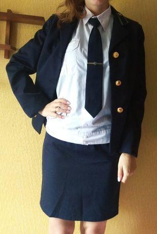 Форма железнодорожная (рубашка, юбка, пиджак)