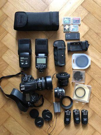 Nikon D700 + gadżety do studio ( dużo )