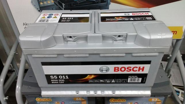 Akumulator Bosch S5011 12V 85Ah 800A F19 P+ dowóz montaż Kraków Azory