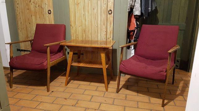 Fotele PRL + stolik gratis