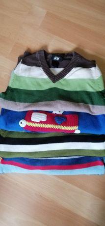 Sweterki chłopięce H&M, Next rozmiar 86/92 Zestaw/paka