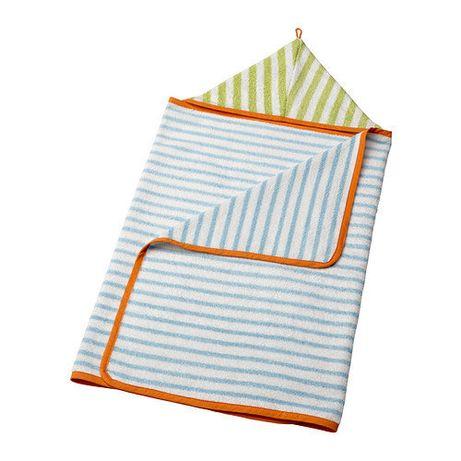 Полотенце с капюшоном, для малышей, новое, хлопок, 60х125см, Икеа