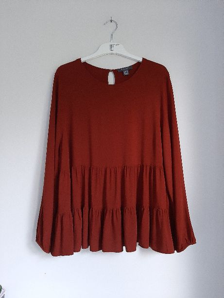 Elegancka ceglasta bluzka XL