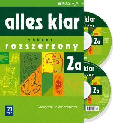 podręcznik i ćwiczenia alles klar 2a zakres rozszerzony+2 płyty