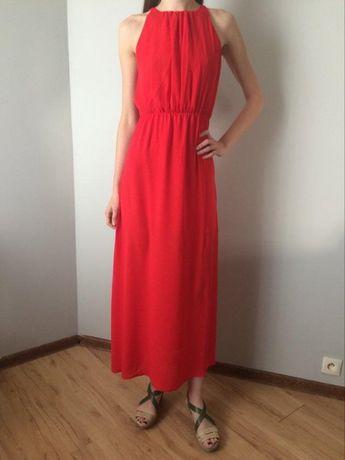 Sukienka czerwona, długa Lola