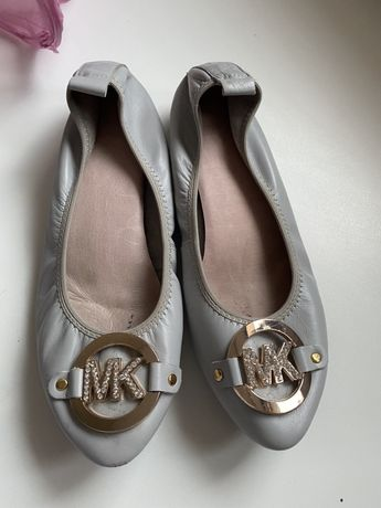 Buty Michael Kors skórzane sliczne szare