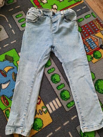 Jeansy spodnie zara 104 rurki