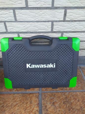 Wkrętarko-wiertarka Kawasaki akumulatorowa 2x w walizce.