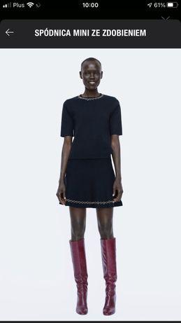 Zara spódnica mini ze zdobieniami M Jak nowa!