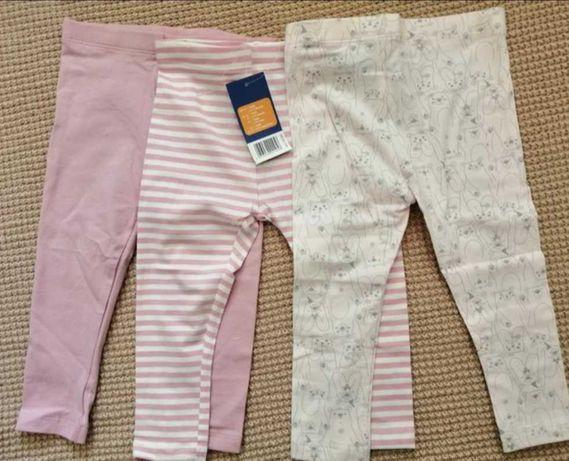 Комплект  штанців дівчинці Lupilu (штанишки,легенсы девочке) 80 см