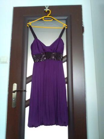 Sukienka wieczorowa fioletowa marki Venitti 36/S