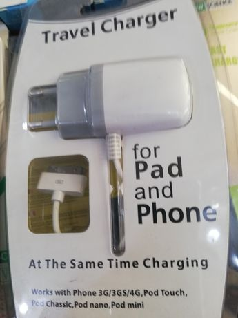 Carregador iPhone 3/3Gs/4/4s ac220v completo novo