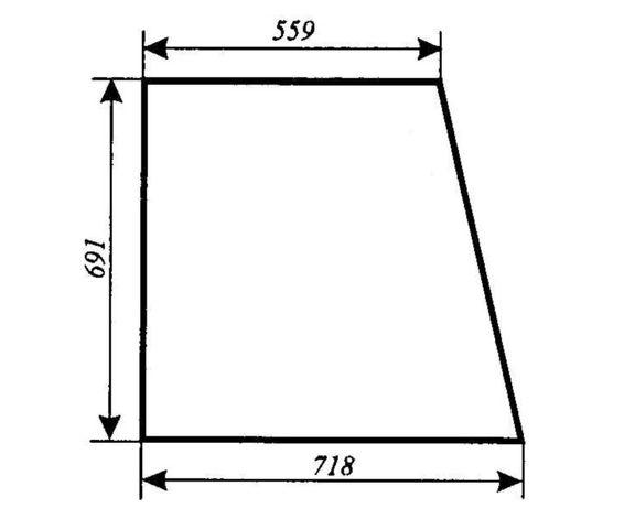 Szyba boczna Ursus 3514, 4512, 4514, 5312, 5314, 5714, ACX180