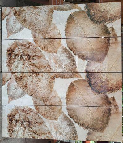 Płytki ścienne dekoracyjne liście